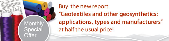 Offer: Buy new report 'Geotextiles and other geosynthetics: applications, types and manufacturers' and receive a 50% discount!