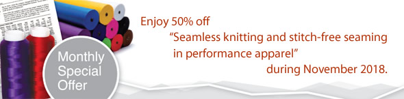 Offer: Enjoy 50% off 'Seamless knitting and stitch-free seaming in performance apparel' during November 2018
